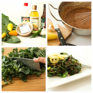 Collards with Spicy Peanut Sauce