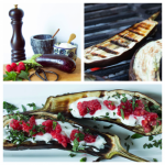 Grilled Eggplant with Yogurt and Berries