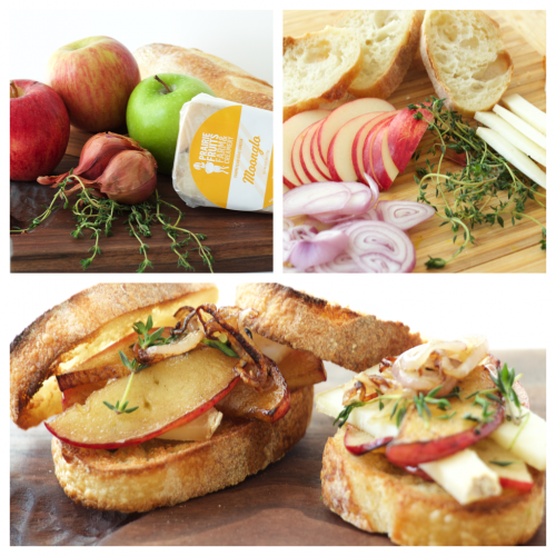 apple cheese sliders