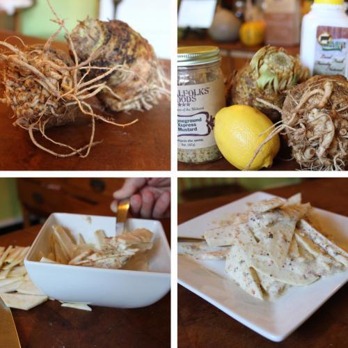 Celery Root in Mustard Sauce