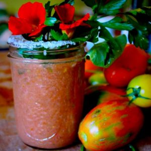 Bloody Mary mix with fresh tomates
